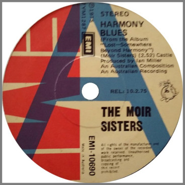 Harmony Blues B/W Stop The Music by The Moir Sisters