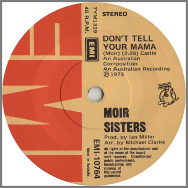 Don't Tell Your Mama	B/W Wandering Home by The Moir Sisters