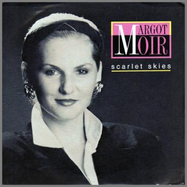 Scarlet Skies B/W Tightrope by Margot Moir