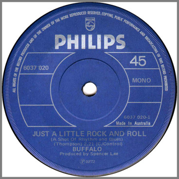 Just A Little Rock And Roll (A Shot Of Rhythm And Blues) B/W Barbershop Rock by Buffalo