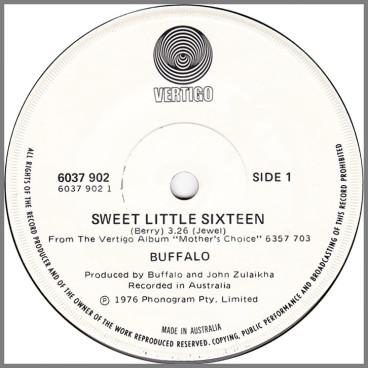 Sweet Little Sixteen B/W Essukay by Buffalo