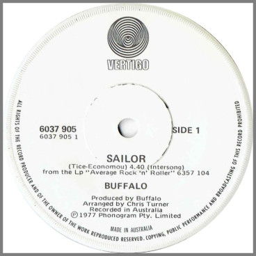 Sailor B/W Average Rock 'N' Roller by Buffalo