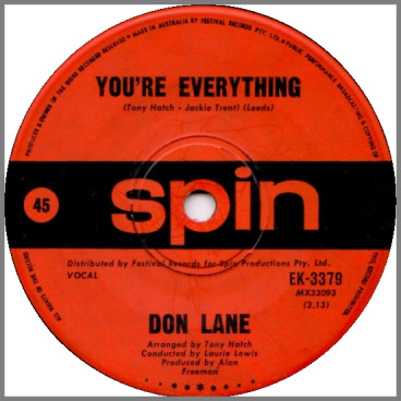 You're Everything B/W The Small Exception Of Me by Don Lane