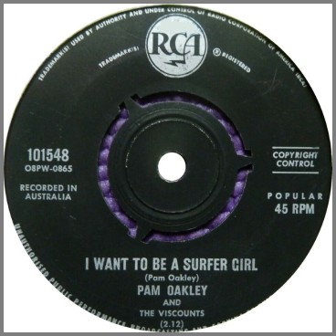 I Want To Be A Surfer Girl B/W Teenage Prayer by Pam Oakley