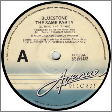 The Same Party B/W Time Won't Change A Thing by Bluestone