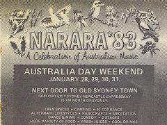 Narara Music Festival, Somersby. NSW