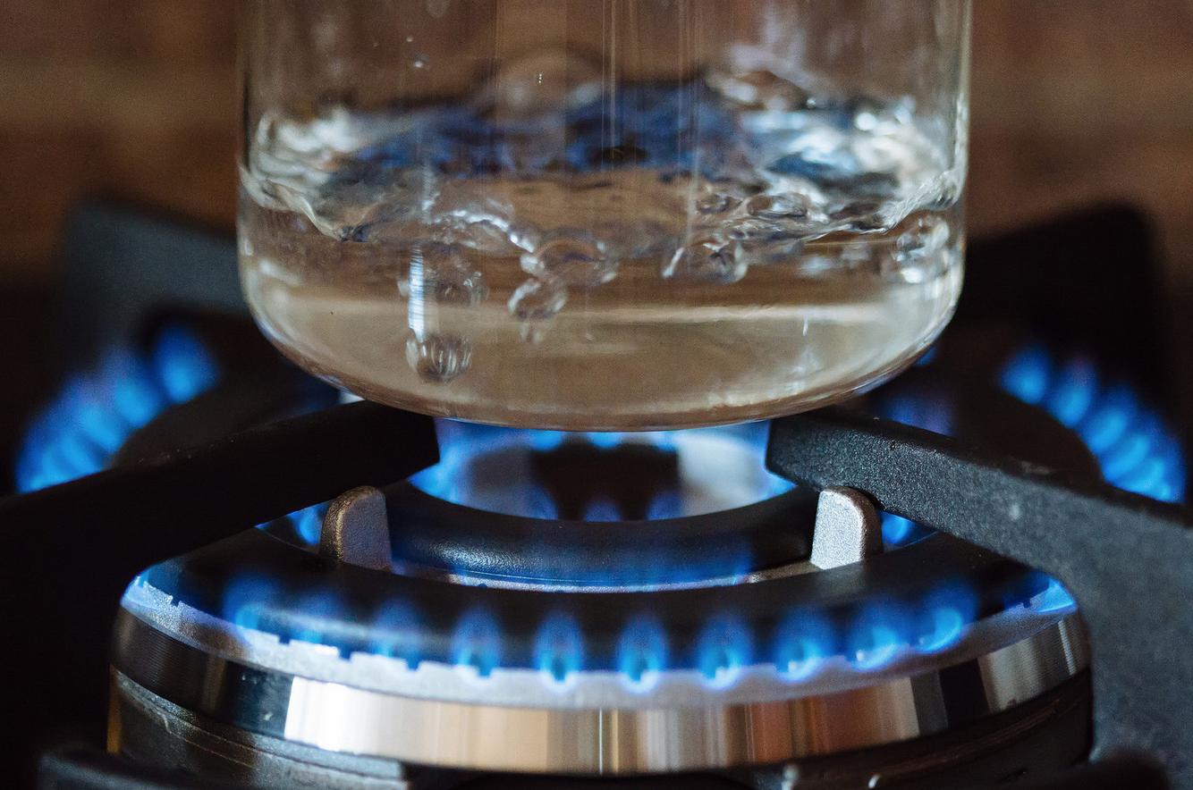 heat water