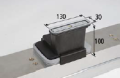 Vacuum Block VCBL-K2 130 X 30 mm mounted lengthway