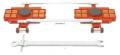 Model ATL 12G Heavy Duty Steerable Tandem Rollers 48,000 lb Capacity