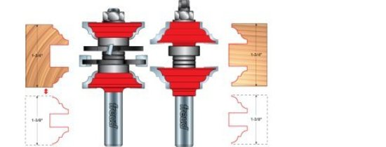 Freud 99 269 1 7 8 Two Piece Entry And Interior Door Router Router Bit Set Hermance
