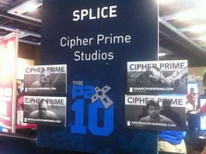 PAX 10 Placard plus our new business cards.
