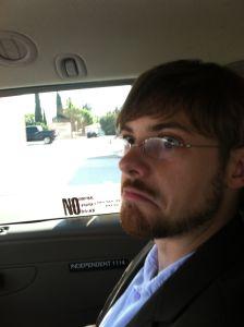 Aaron before IndieCade 2012