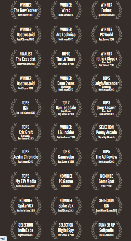 Papers, Please Awards