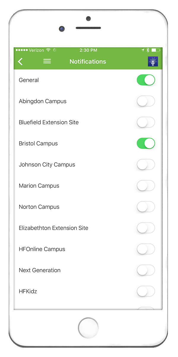 Campus Notifications