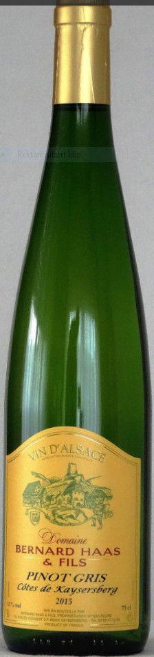 Pinot Gris, Côtes de Kaysersberg