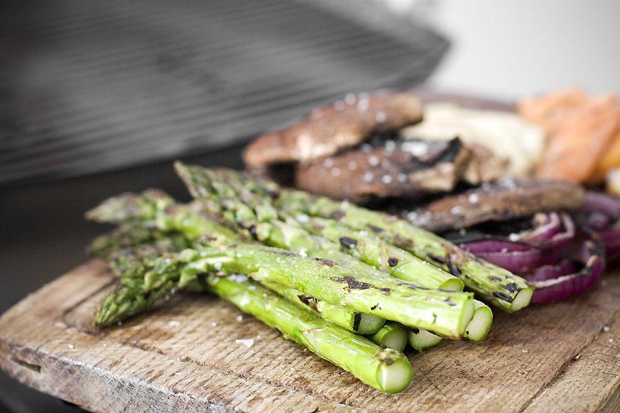 Grillade grönsaker, grillad svamp
