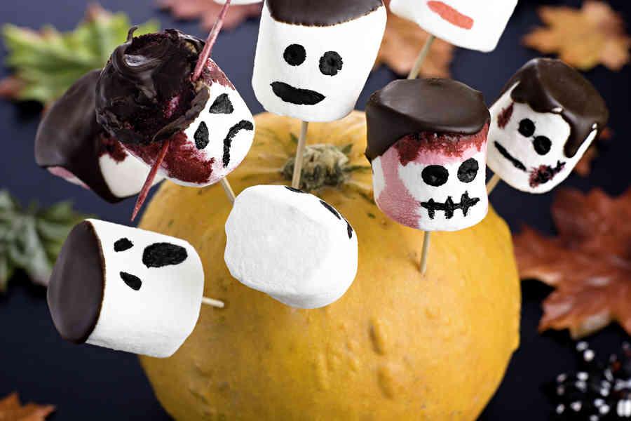 Mashmallowrysare till halloween