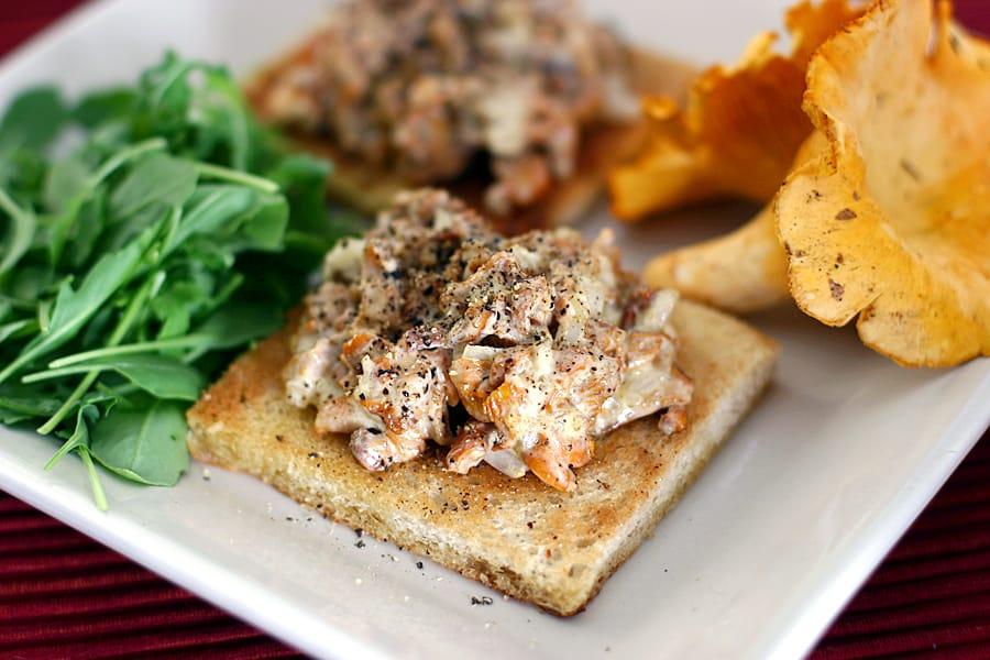 Varm svampsmörgås