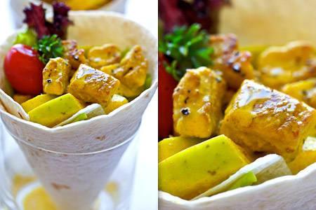 Wrap med curry och äpple