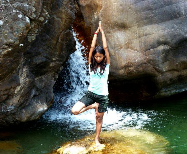 Devika water fall meditation