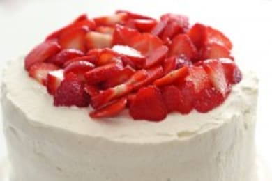 <p>Rachel Khoo's Spiced Strawberries and Cream Cake</p>