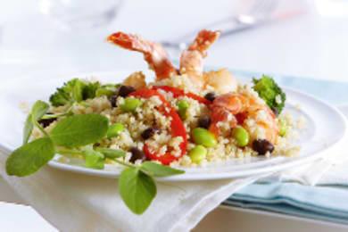 Recipe: Ginger Edamame Quinoa