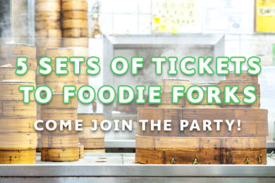 Giveaway: 5 Pairs of Foodie Forks Tickets!