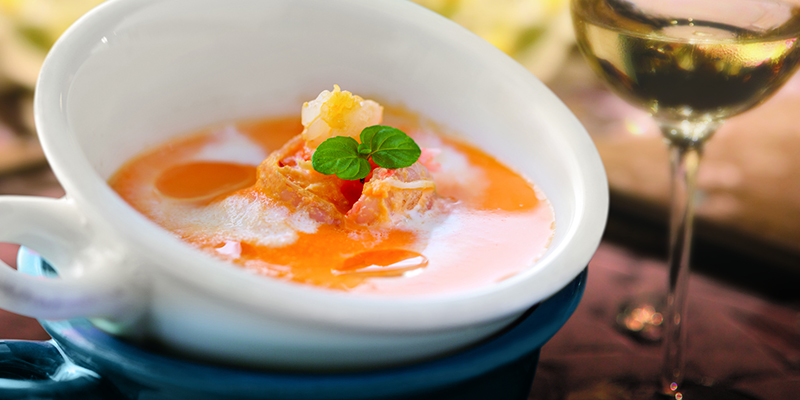 Pumpkin soup full frame