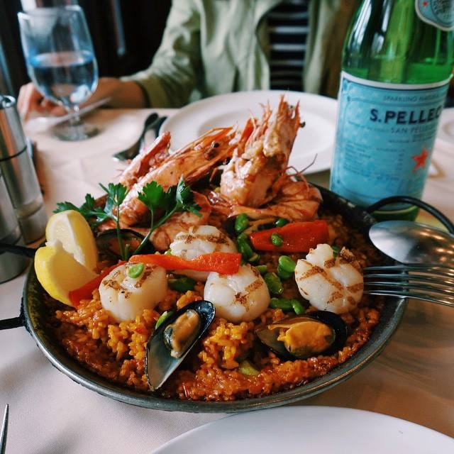 "Seafood Paella with Scallops and ""Carabineros""- Spanish Deep Sea Prawns"