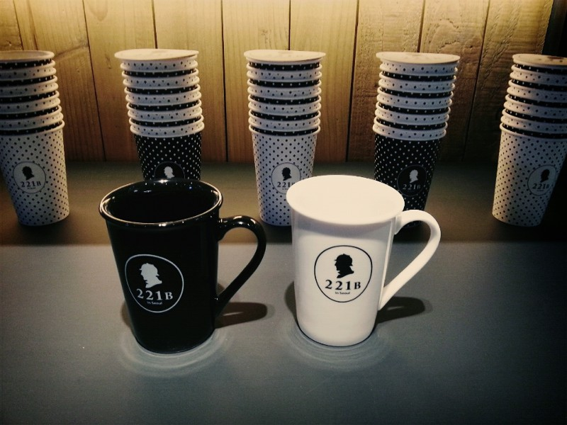 221B Mugs at Sherlock Café