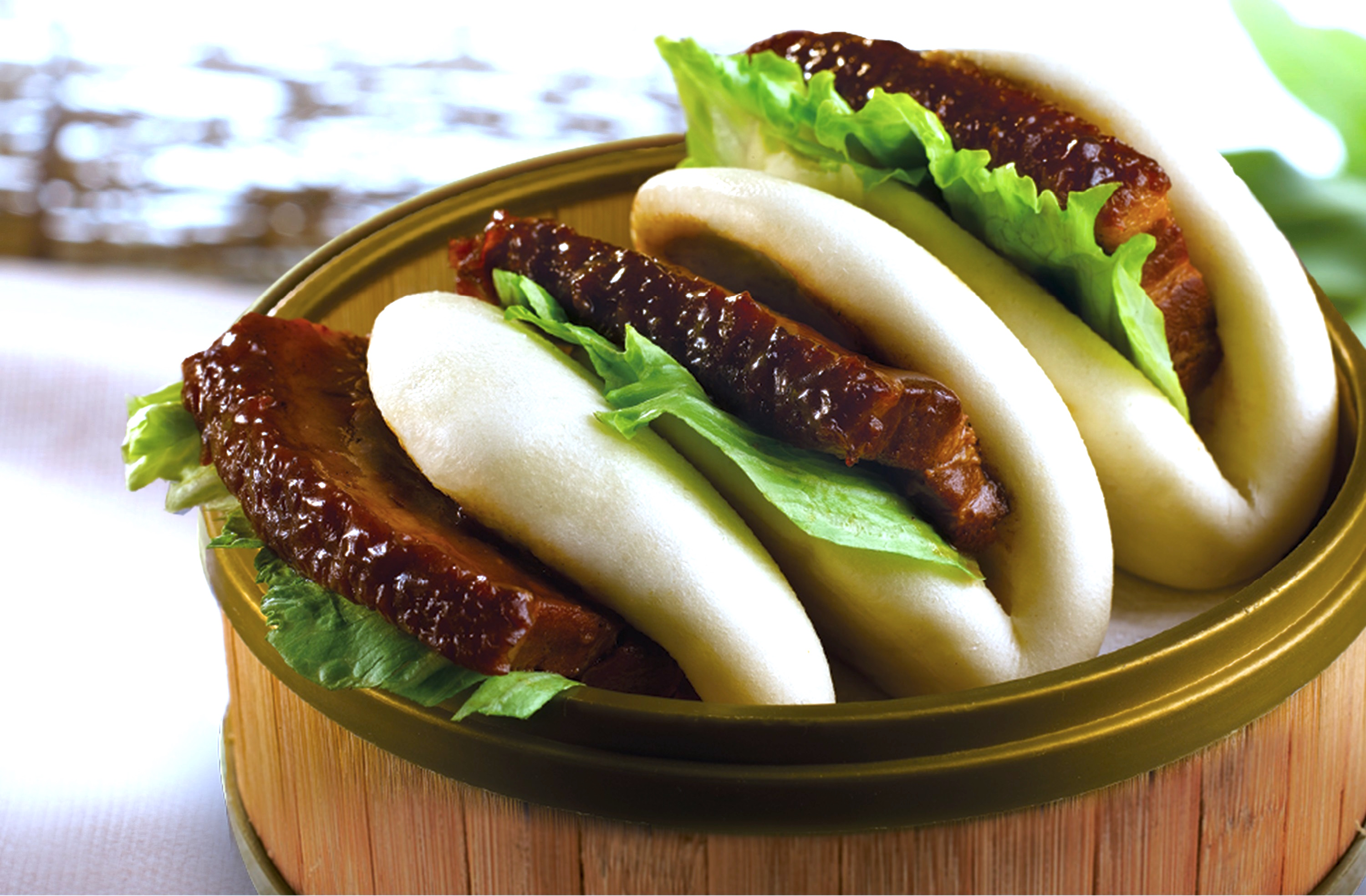 Stewed Pork Belly with Lotus Bun
