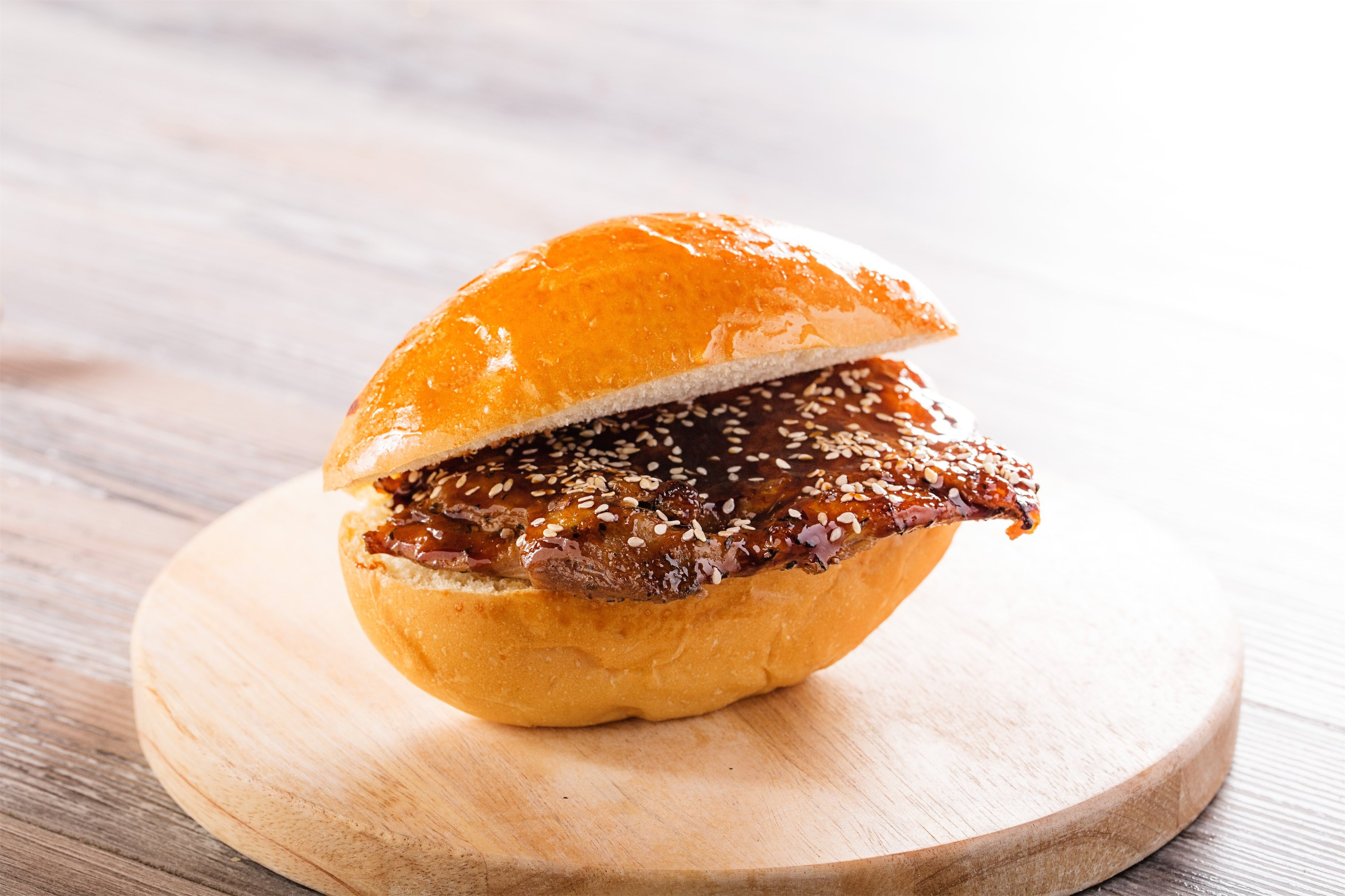 Roasted Chicken Bun with Japanese Sauce