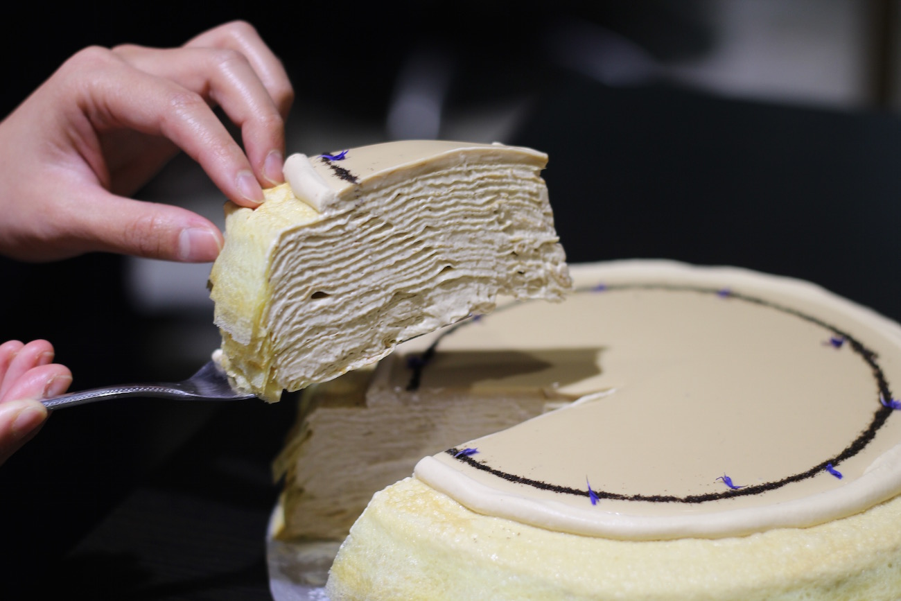 Image titleMillecrepe cake at Lady M