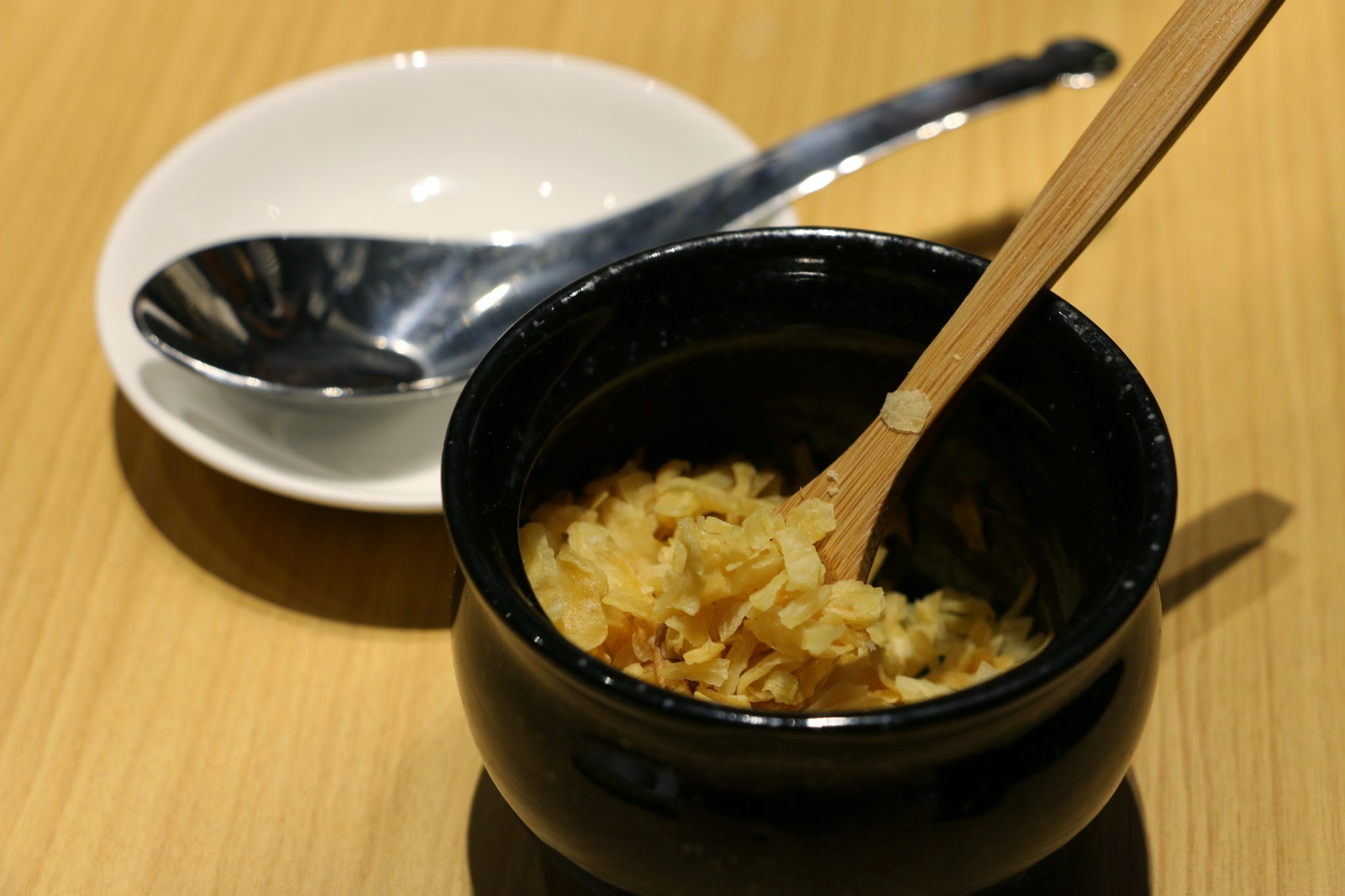 fried onion, onion, condiments, japanese, ramen, noodle Tetsu, TETSU沾麵哲