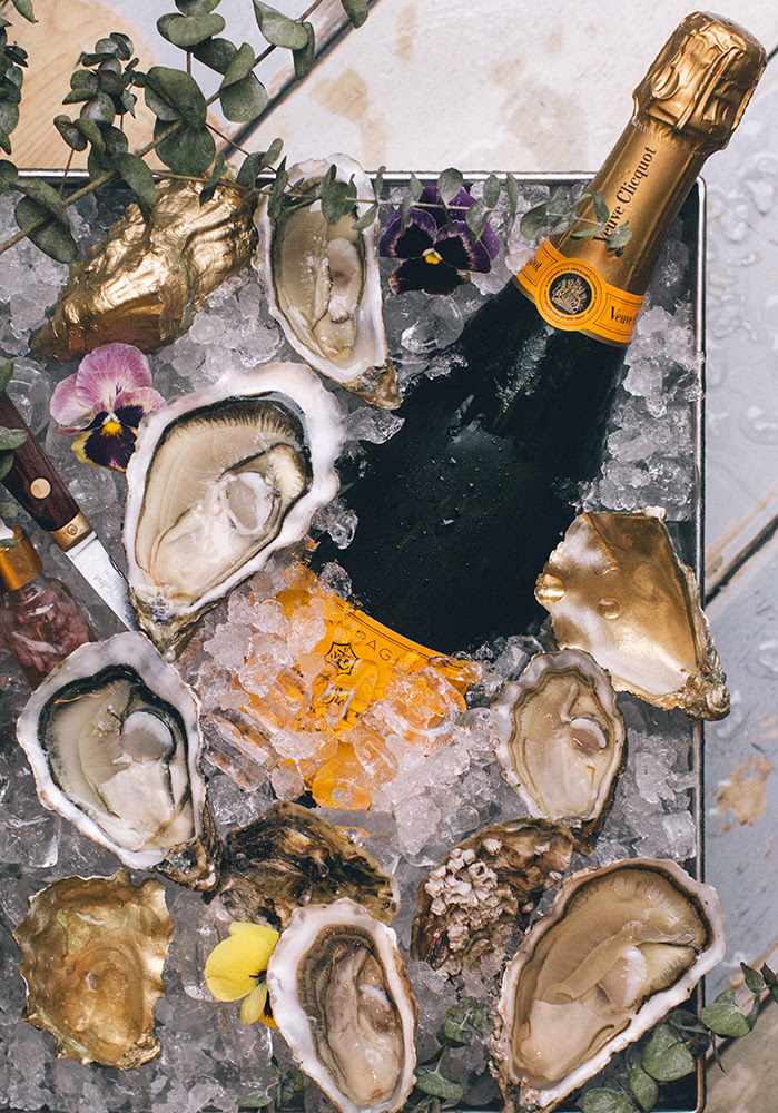 Oysters and champagne for Valentines Day in Hong Kong