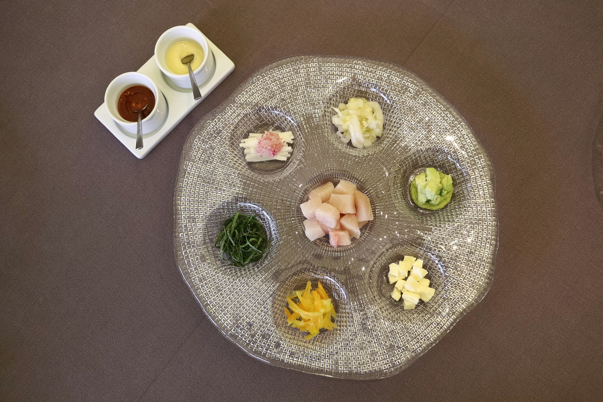 Jung Sik Dang, Amuse Bouche, Korea, Yellowtail