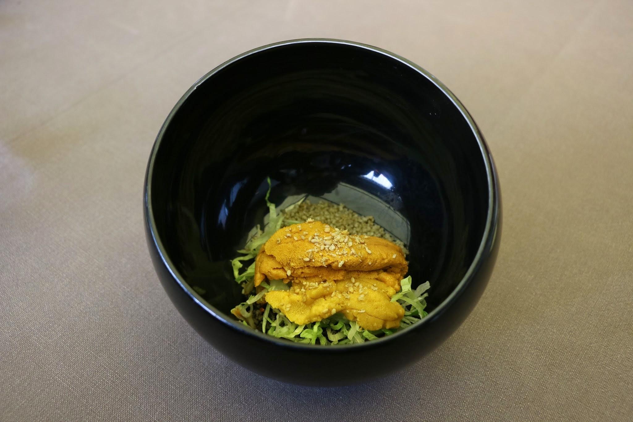 Jung Sik Dang, Bibimbap, Korea, Sea Urchin, Fried Millets