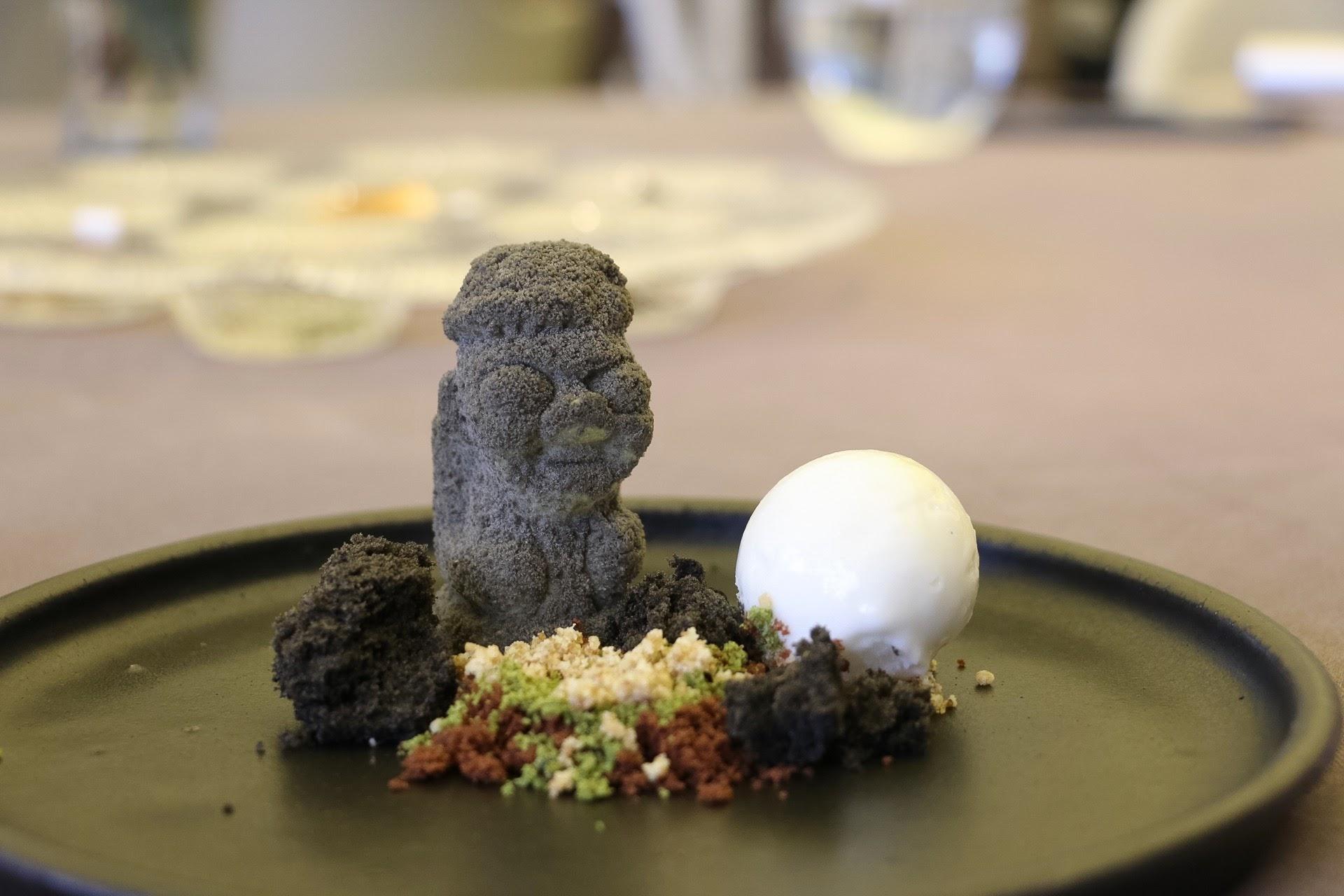 Jung Sik Dang, Korea, Dolhareubang, Stone Grandpa, Green Tea Mousse Cake, Sesame