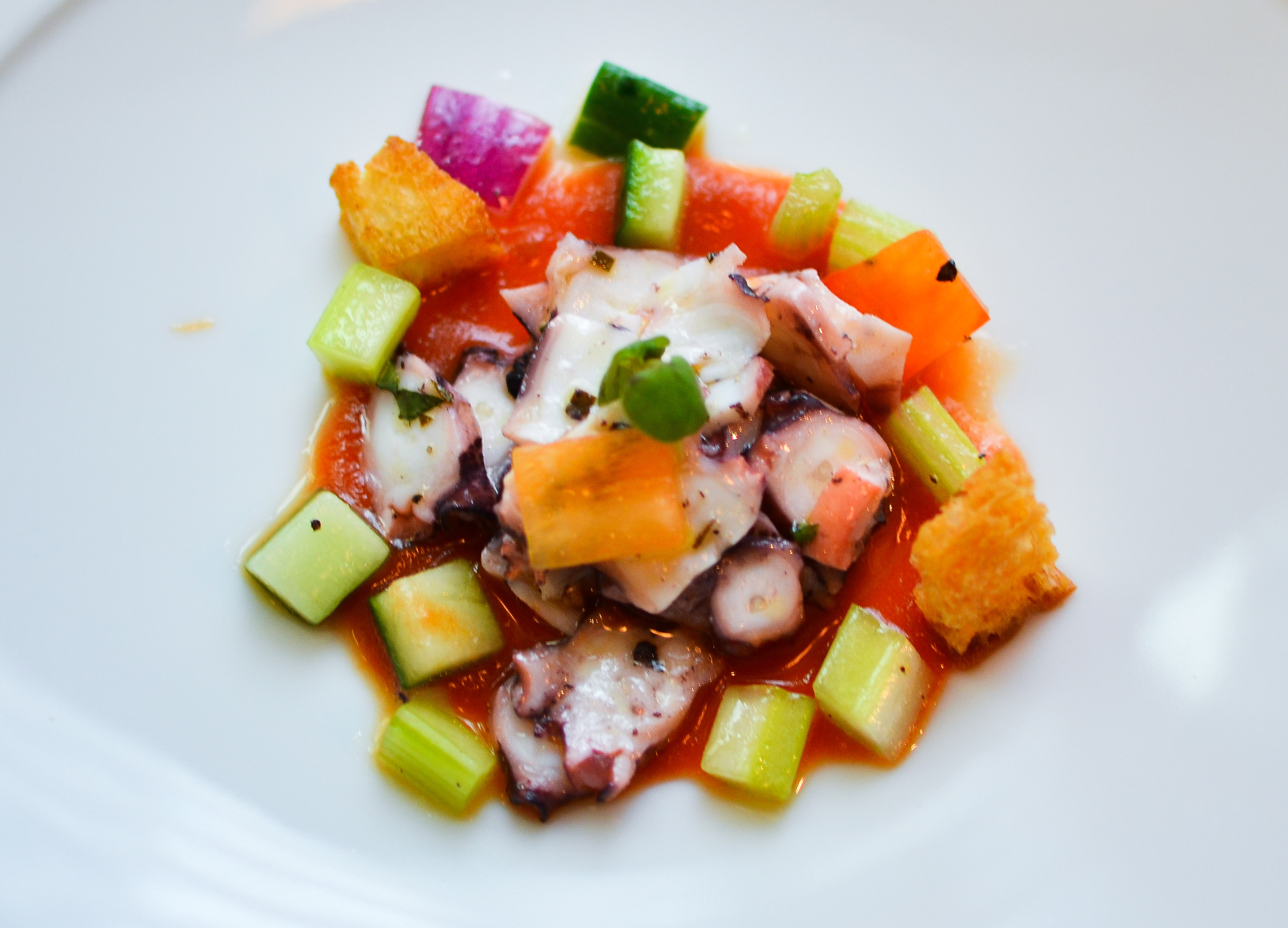 Octopus ceviche at Beefbar HK