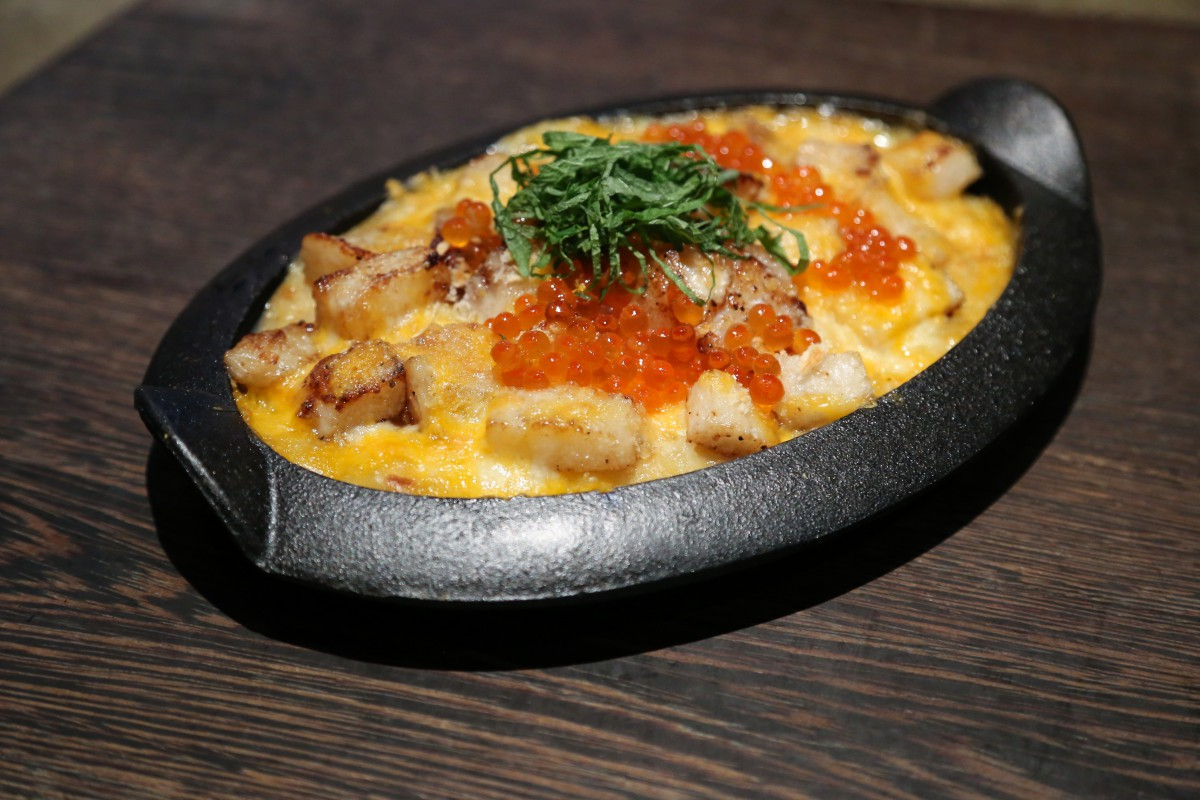 Tiger Style Mac n Cheese - Soy Bechamel, Saikyo Miso, Macaroni, Mountain Yam, Scallop