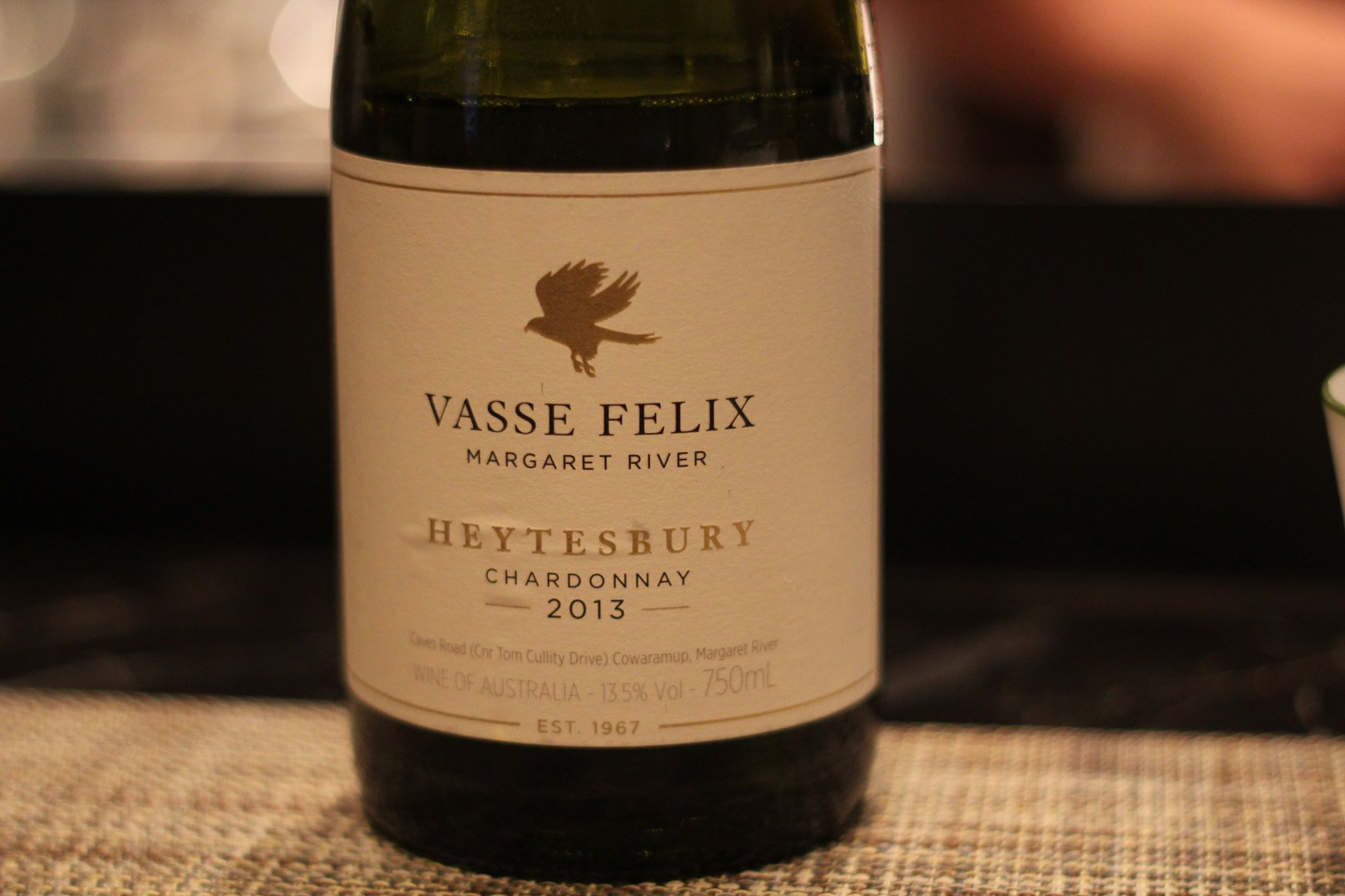 2013 Vasse Felix  chardonnay from Margaret River