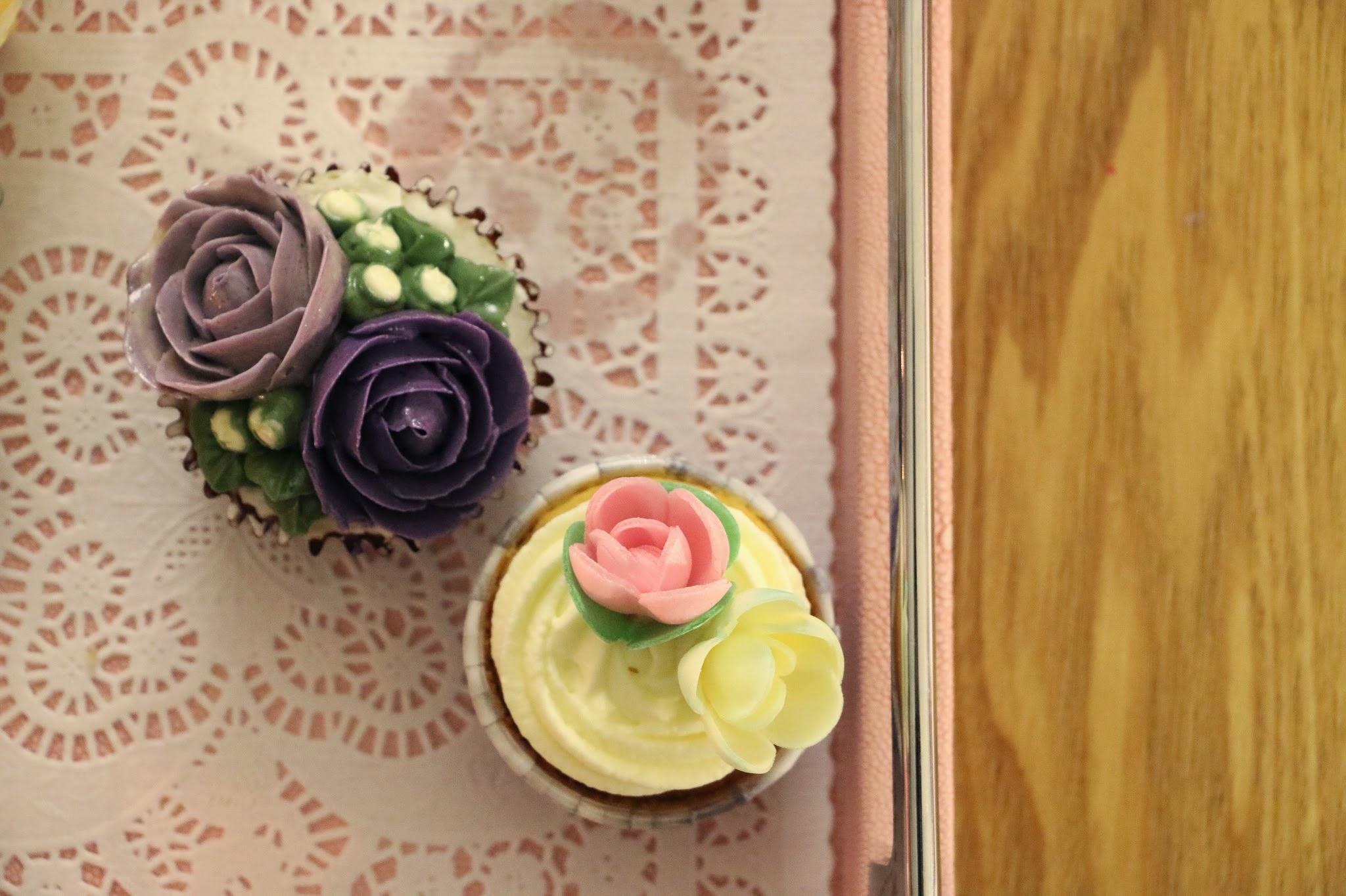 DK Cuppa Tea Spring Symphony Afternoon Tea, Korean Floral Lavender Yuzu Cupcake