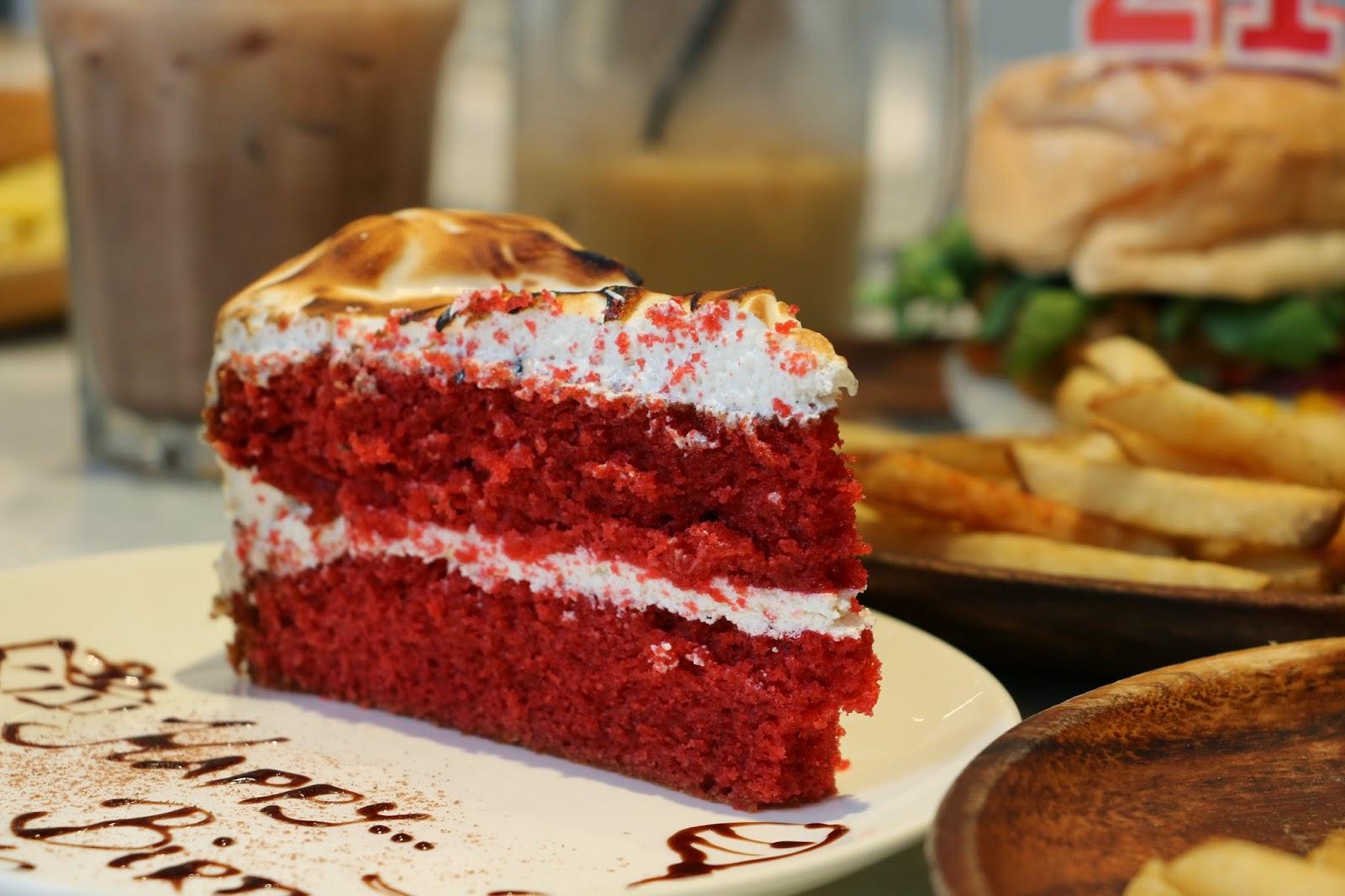 Red velvet cake, corner kitchen cafe, Spot The Food