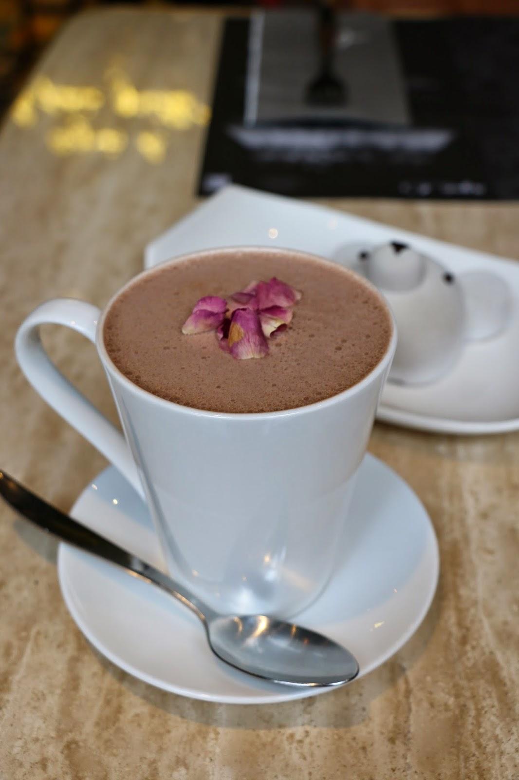 rose hot chocolate, agnes b, Spot The Food