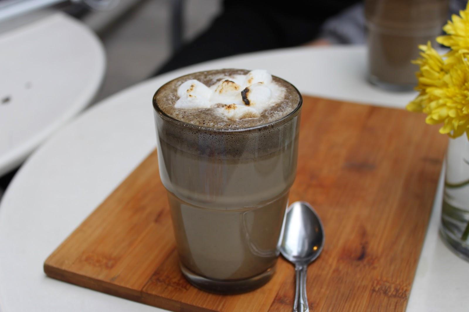 Sinmei Tea Hojicha hot chocolate, Spot The Food