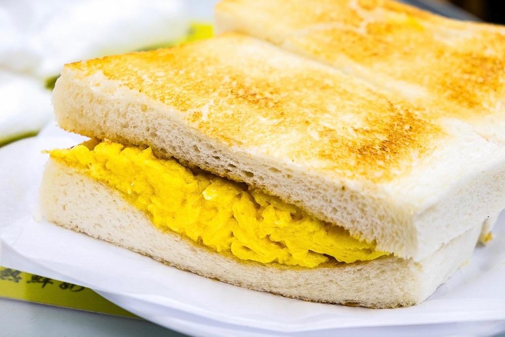 Australian dairy company scrambled egg sandwich