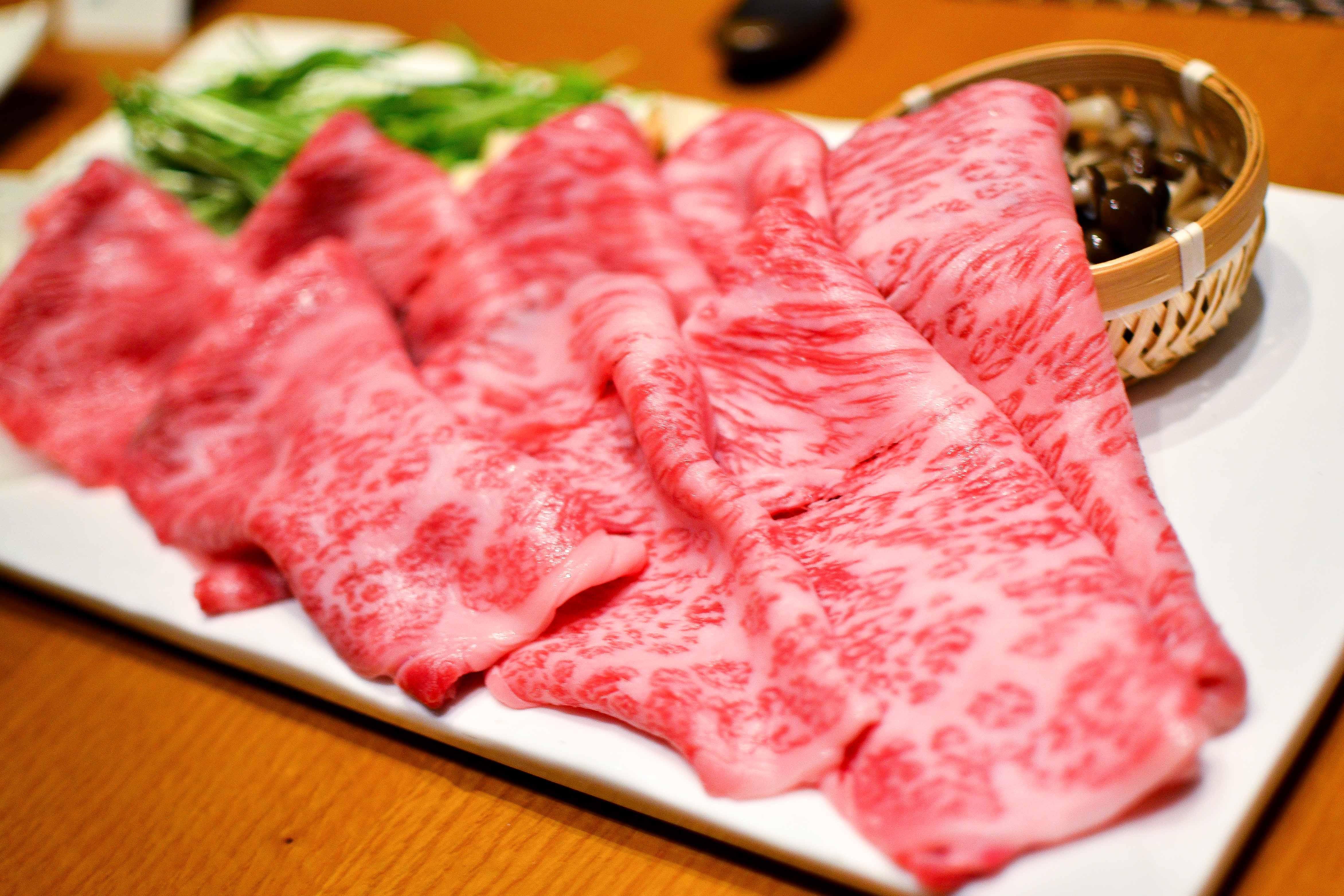 Beautiful marbled Matsuzaka Beef
