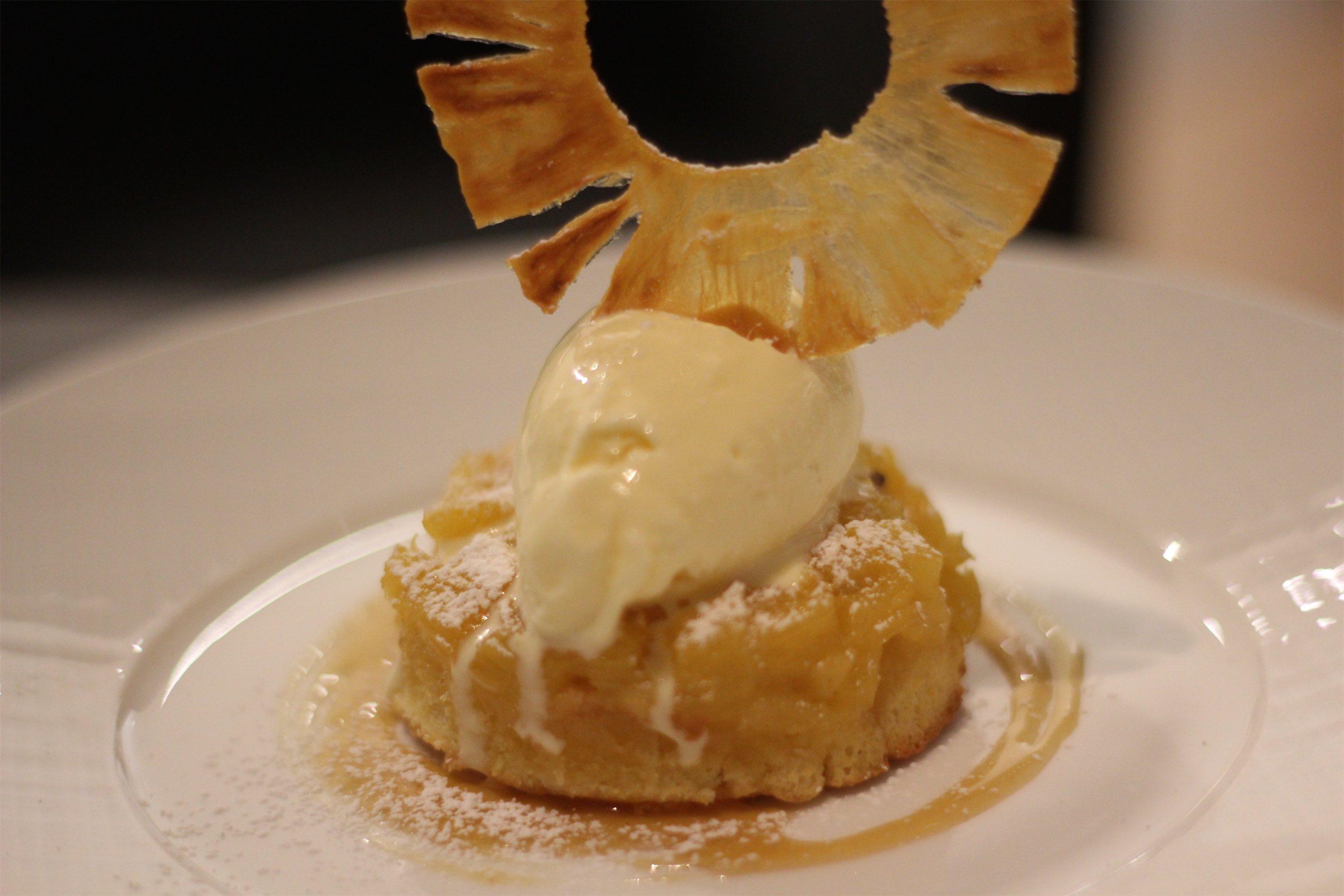 Pineapple Polenta cake