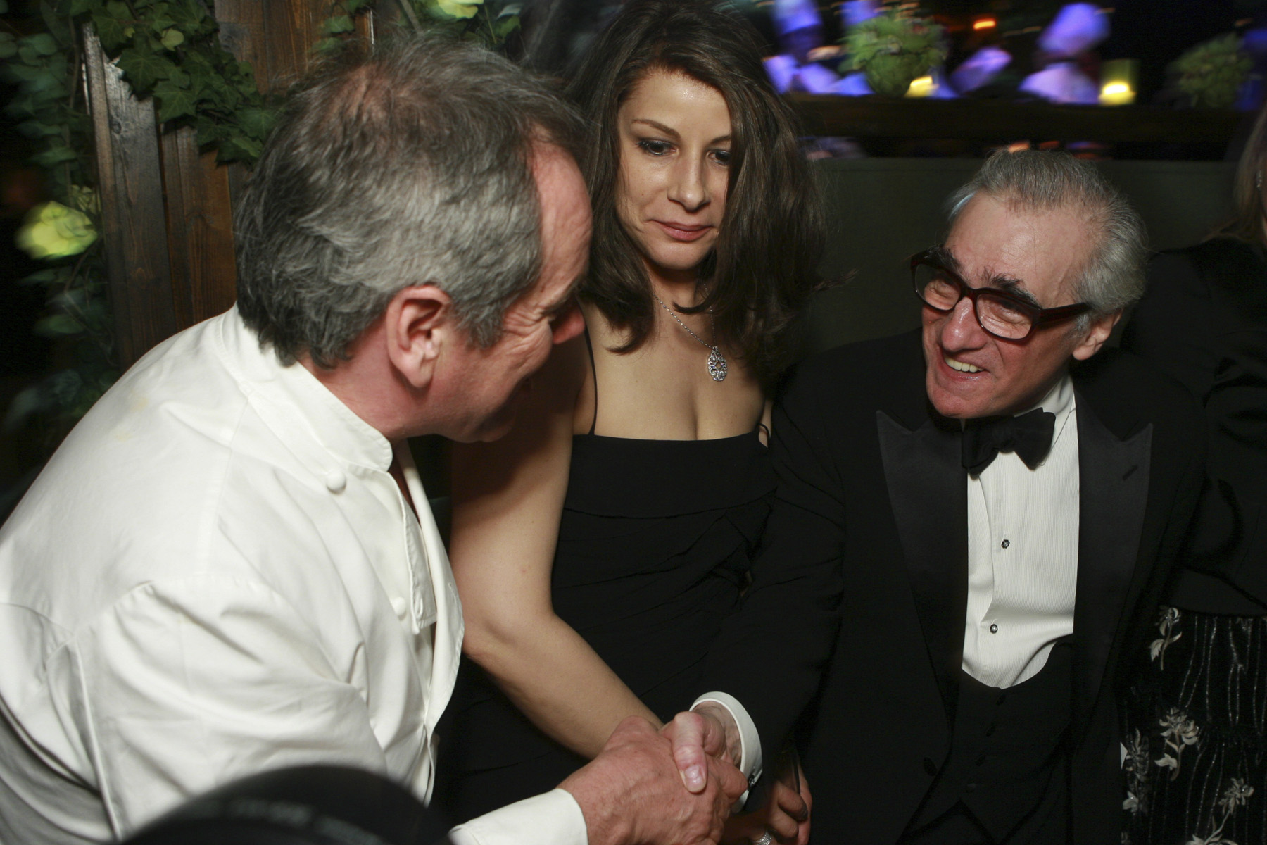 Scorsese and Wolfgang Puck