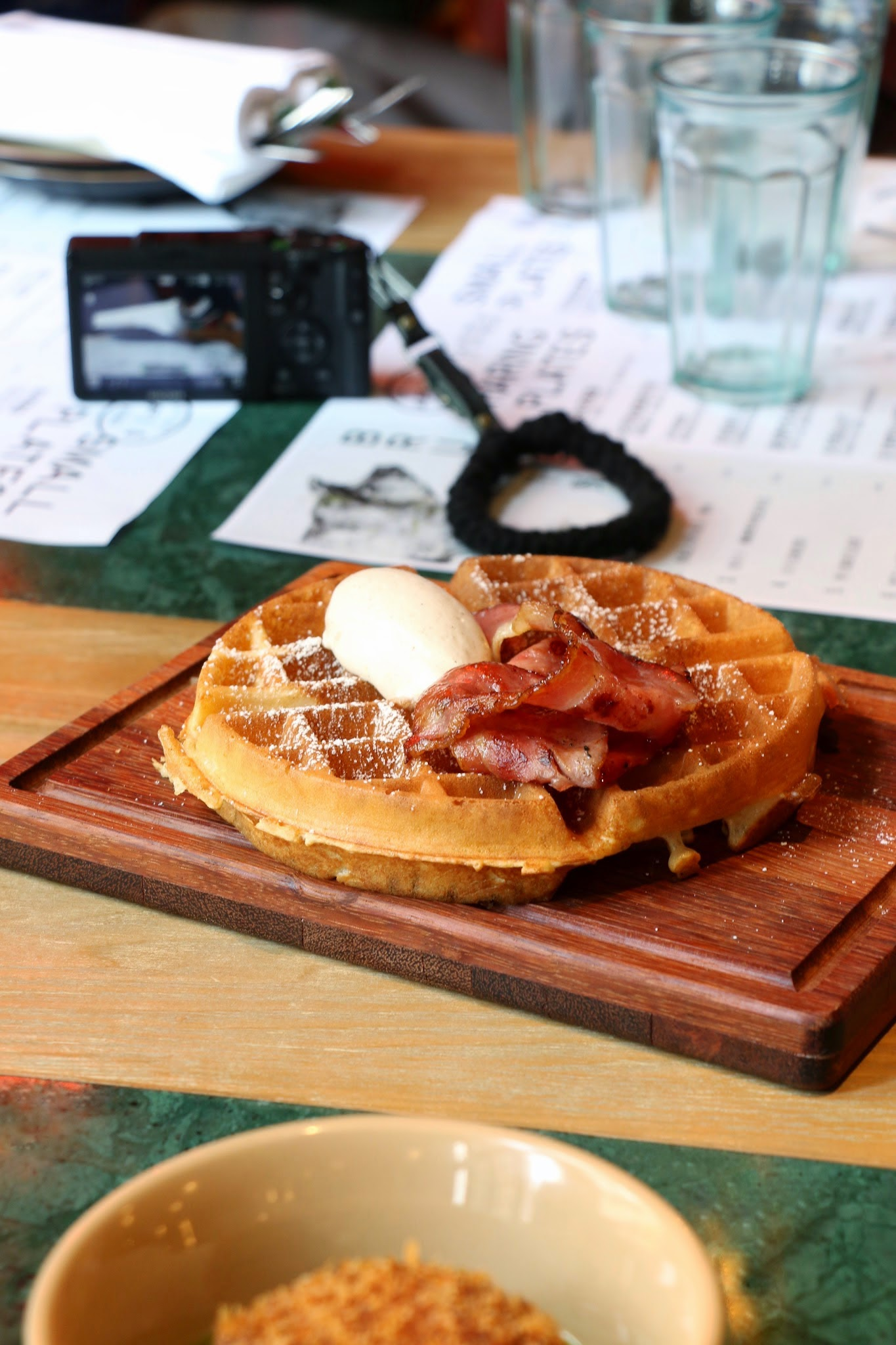 The Fat Pig Bacon Maple waffle